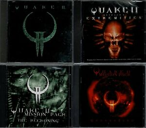 Quake II & expansions Ground Zero & Extremities & Reckoning Pc All Brand New