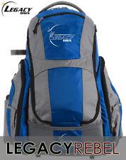 LEGACY REBEL BACK PACK BAG (HOLDS 25 DISCS) BLUE W/GRAY INCLUDES RAIN-JACKET
