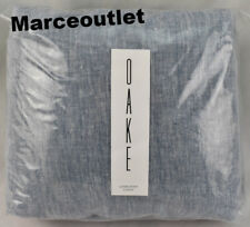 Oake Bedding Linen Collection FULL / QUEEN Duvet Cover Chambray Blue