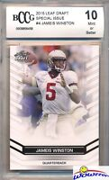 2015 Leaf Draft Special Issue #4 Jameis Winston ROOKIE BECKETT 10 MINT Bucs