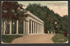 1917 post card Shelter House Prospect Park Brooklyn to Wildhaber Bronx/in German