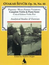Moses Fantasy for Violin And Piano With Analytical Studies Book New 000254185