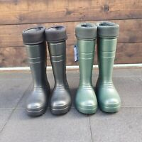Thermal Wellies Wellingtons Mens Womens High Calf Rain Muck Boots Shoes All Size