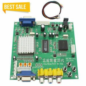 HD Video Converter Board CGA/EGA/YUV/RGB to VGA Arcade Game Monitor to LCD CRT