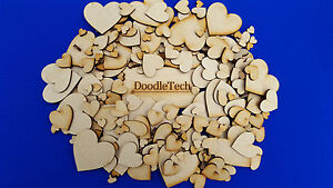 MDF,Wooden Heart shapes Laser Cut Blank Embellishments Craft, Wedding, Scrapbook