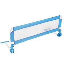 Barrière de lit pour bébé enfant système protection portable 102cm bleu