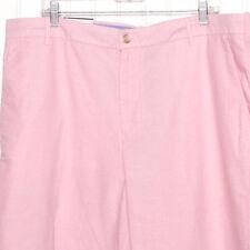Izod Mens Pink Flat Front Shorts 38 NWT