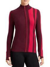 Athleta Medium Red CAT TRACK CARDIGAN SWEATER Merino Ski Snow Winter $128