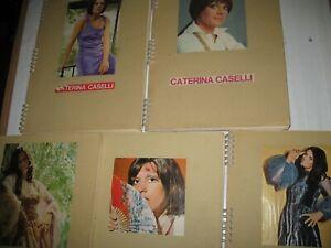 CASELLI CATERINA ,CLIPPINGS,5 ALBUM CON RITAGLI RIVISTE ANNI 60 70 LOTTO !
