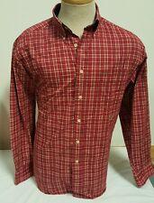 Tommy Hilfiger Men's Button Down Shirt Long Sleeve Red White Stripe Sz Medium M