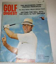 Golf Digest Magazine Gay Brewer & The Backswing Turn August 1967 071414R