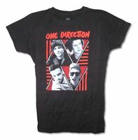 One Direction Triangles Band Image Girl's Juniors Black T Shirt Band Pop Music