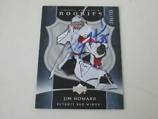 JIMMY HOWARD AUTOGRAPHED 2005-06 UPPER DECK ARTIFACTS ROOKIE CARD SP-286/750