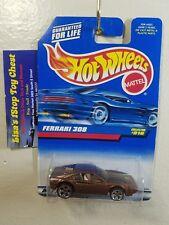 Hot Wheels 1997 Ferrari 308 Copper w/ 5 Dot Blue Card #816  B17