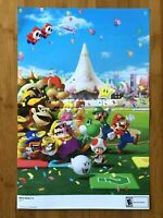 2007 Official Mario Party 8 / Mario Party DS Wii 2-Sided Poster Authentic RARE!