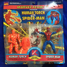 HUMAN TORCH & SPIDER-MAN - 1996 MARVEL TEAM UP K MART EXCLUSIVE NEW SEALED
