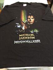 Michael Jackson Moonwalker t-shirt Black Hanes Heavyweight Pop music 2XL