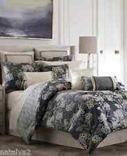 Croscill Paloma King Comforter Bedskirt 4 Pillows Euro Shams 10Pc Set Dark Blue