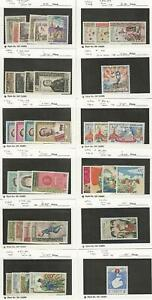 Laos, Postage Stamp, #60//114 Mint NH & LH, 1959-65, JFZ