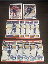 12 Card Al Iafrate Lot. 10 1990 Score # 195, #334. 2 1990 Upper Deck # 157, #539