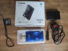 Canon IXUS 170 20.0MP Digital Camera in Blue boxed with original accessories