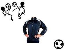 Regenjacke Legea Sportjacke Fußball mit Kaputze blau - weiß Größe S (42 - 44)