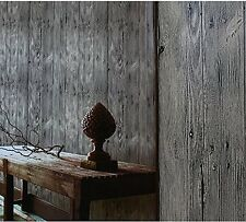 Blooming Wall Faux Vintage Wood Panel Wood Plank Wallpaper Rolls Wall Paper Wall