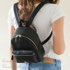 New Coach F38263/F28995 Mini Charlie Backpack Bag In Pebble Leather Black