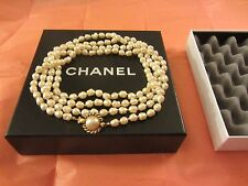 "Chanel Vintage 1981 Gripoix Baroque Pearl Sautoir Necklace 64"" Authentic!!"