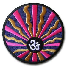 Aum Om Infinity Hinduism Yoga Indian Trance Patch Embroidered Iron on Sewing # A