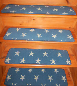 14 = Step  9'' x 32''  Tufted carpet Wool Stair Treads Staircase  .