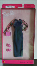 BARBIE FASHION AVENUE 1999 Blues Styles FIRST DATE Long Jean Jumper Shiny Pink