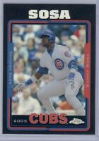 2005 Topps Chrome Sammy Sosa #10 Black Refractor /225 Cubs SP