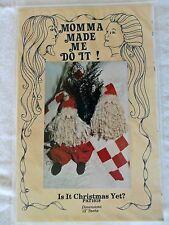 ist es weihnachten noch? 12 zoll santa puppen #1018 1998 uncut pattern mama hat mich