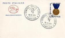 Repubblica Italiana 1973 FDC Cavallino Ass. Gr. Medaglie d'Oro al Valor Militare
