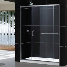 """DREAMLINE INFINITY-Z  56-60"""" X 72"""" FRAMELESS SLIDING SHOWER DOOR 1/4"""" GLASS"""