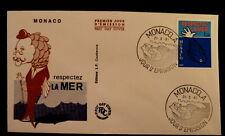 MONACO PREMIER JOUR FDC YVERT 1264     VIE MARINE , POISSON      1,20F      1981
