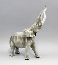 Porcelain Figure Large Elephant Africa Wagner & Apel 30x24cm 9942395