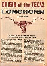 Texas Longhorn Origin and History