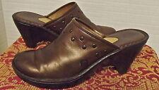 BORN BRONZE STUDDED PLATFORM CLOGS MULES SLIDES Leather SLIP ON SHOES sz 10 (42)
