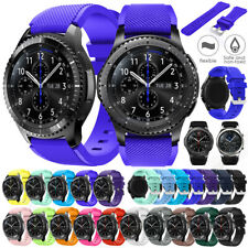 For Samsung Gear S3 Classic Frontier/Galaxy Watch 46mm Silicone Strap Wristband