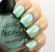 Nicole opi O.P.I. Modern Family MINT GREEN Nail POLISH Alex By The Books NIF07