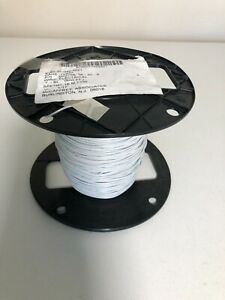 M22759/16-20-9  20 awg. Stranded White Tefzel Ins.  500 ft. Spool Airframe Wire