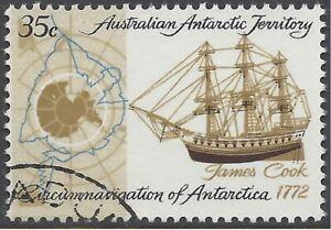 Australian Antarctic Terr 1972 35c Cook Circumnavigation, FU (CTO, no gum) SG22