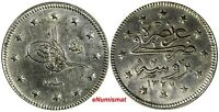 TURKEY Muhammad V Bursa Mint Silver AH1327//1 (1909) 2 Kurush SCARCE KM# 785
