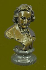 Art Deco Chopin Bust Museum Quality Statue Figurine Bronze Sculpture Hot Cast