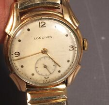 1960's LONGINES 10K GOLD FILLED Band Hand-Winding SUB SECOND DIAL works Vintage