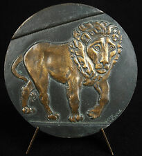Médaille Le Lion symbole de Saint Marc sc Louis Leygue 1978 72 mm animal medal