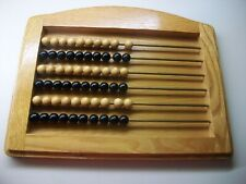OAK FRAMED ABACUS WITH COUNTING BEADS