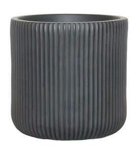 IDEALIST Ribbed Round Outdoor Planter with Drainage Hole